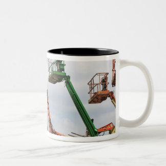 Industrial lifting platforms coffee mugs