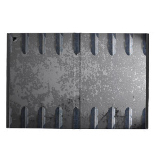 Industrial metal railings and stone iPad air cover