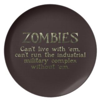 Industrial Military Complex Zombies Dinner Plates