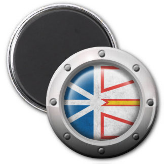 Industrial Newfoundland Flag with Steel Graphic Magnet
