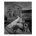 Industrial Photo - Dam Powerhouse Lifting Gears Poster