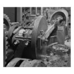Industrial Photo - Headhouse Steam Piston Poster