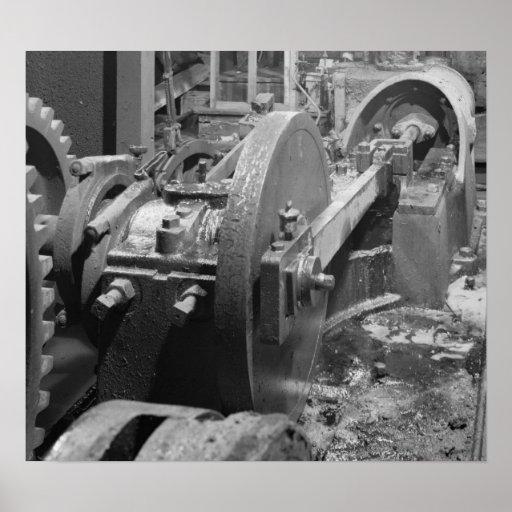 Industrial Photo - Headhouse Steam Piston Poster