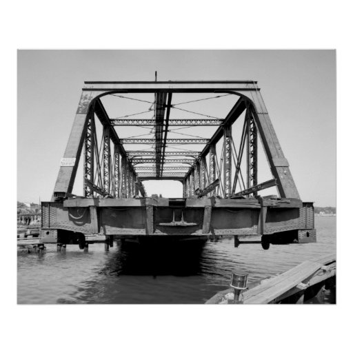 Industrial Photo - Railroad Bridge Poster