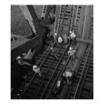 Industrial Photo - Railroad Bridge Workers Poster