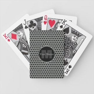 Industrial Pierced Metal Look in Greys and Black Bicycle Playing Cards