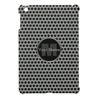 Industrial Pierced Metal Look in Greys and Black Cover For The iPad Mini