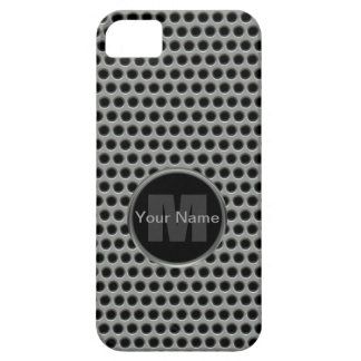 Industrial Pierced Metal Look in Greys and Black iPhone 5 Cover