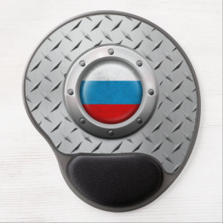 Industrial Russian Flag with Steel Graphic Gel Mousepads