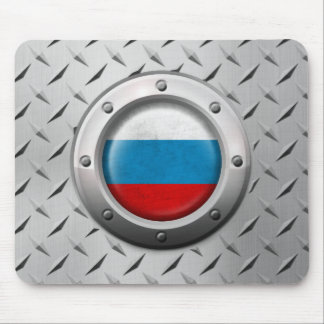 Industrial Russian Flag with Steel Graphic Mousepads