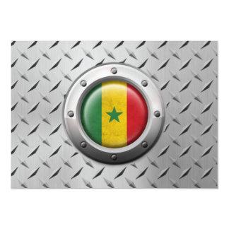 Industrial Senegal Flag with Steel Graphic 13 Cm X 18 Cm Invitation Card