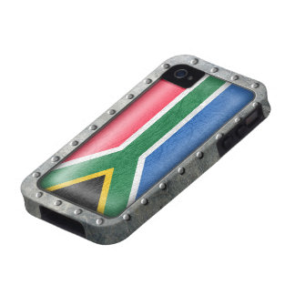 Industrial South African Flag Case-Mate iPhone 4 Cover
