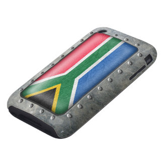 Industrial South African Flag Tough iPhone 3 Case