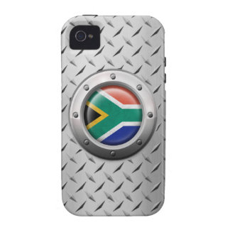 Industrial South African Flag Steel Graphic Vibe iPhone 4 Case