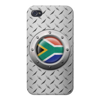 Industrial South African Flag Steel Graphic Cases For iPhone 4