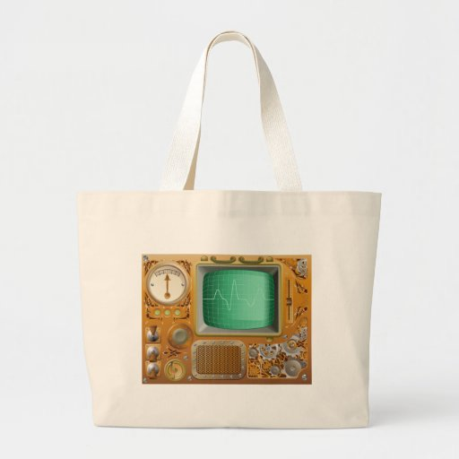 Industrial Steampunk media player Canvas Bags