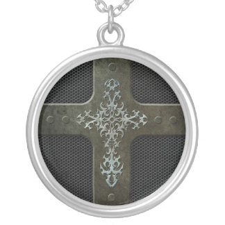 Industrial Steel Mesh Gothic Cross Jewelry