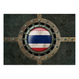 Industrial Steel Thai Flag Disc Graphic Business Card