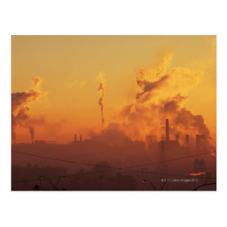 Industrial sunrise postcard