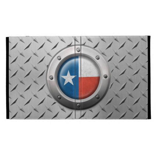 Industrial Texas Flag with Steel Graphic iPad Folio Cover