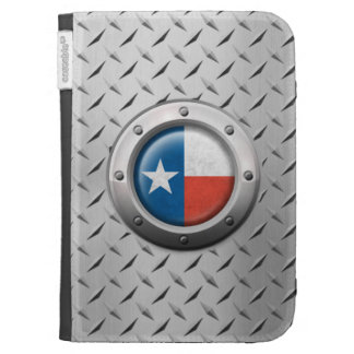 Industrial Texas Flag with Steel Graphic Kindle Case