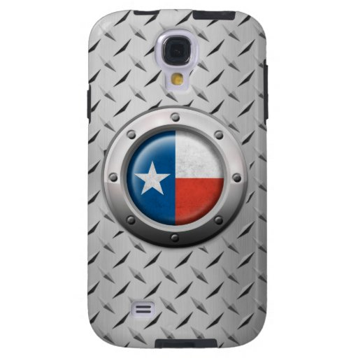 Industrial Texas Flag with Steel Graphic Galaxy S4 Case