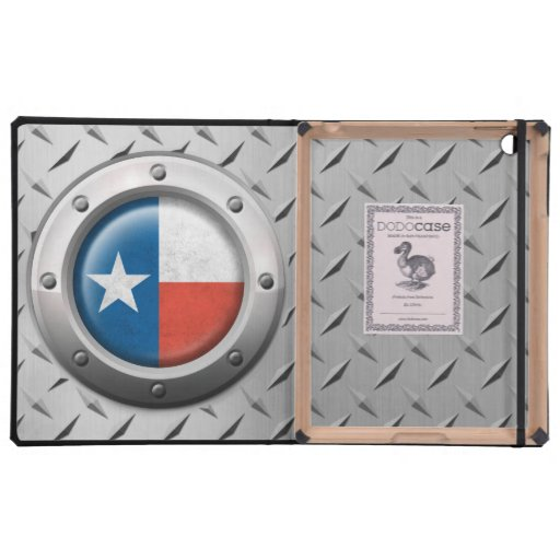 Industrial Texas Flag with Steel Graphic Covers For iPad