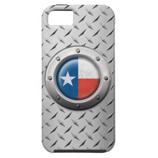 Industrial Texas Flag with Steel Graphic iPhone 5/5S Cases