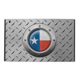 Industrial Texas Flag with Steel Graphic iPad Folio Case