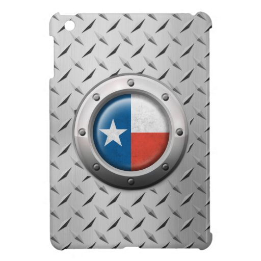 Industrial Texas Flag with Steel Graphic iPad Mini Cases