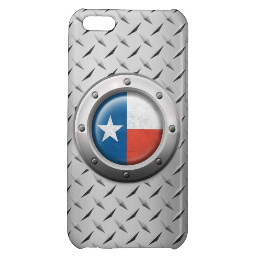 Industrial Texas Flag with Steel Graphic iPhone 5C Cover