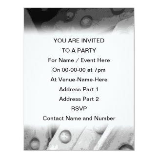 Industrial Theme Digital Art. 11 Cm X 14 Cm Invitation Card
