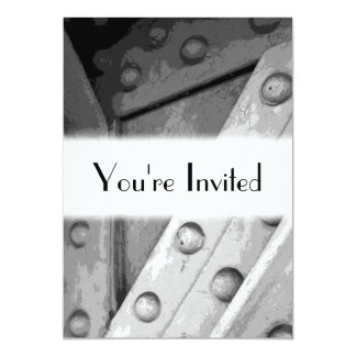 Industrial Theme Digital Art. 13 Cm X 18 Cm Invitation Card