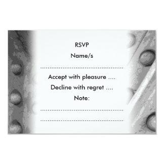 Industrial Theme Digital Art. 9 Cm X 13 Cm Invitation Card
