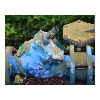 industrial valve invert steampunk image 21.5 cm x 28 cm flyer