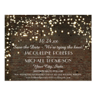 Industrial Warehouse Urban Brick String Lights Postcard