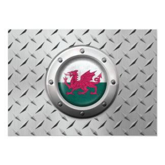 Industrial Welsh Flag with Steel Graphic Personalized Invite