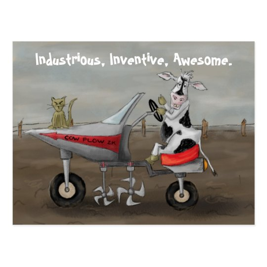 Industrious, Inventive, Awesome. Postcard