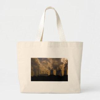 Industry polluting the atmosphere tote bag
