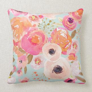 Indy Bloom Blue Blush Florals Pillow