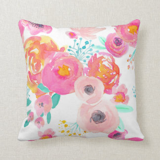 Indy Bloom Blush White Pillow