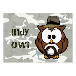 Indy owl pack of chubby business cards