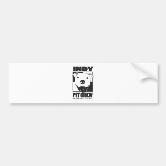 Indy Pit Crew Official Logo Bumper Sticker