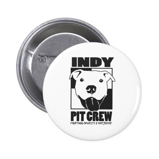 Indy Pit Crew official logo Pinback Buttons