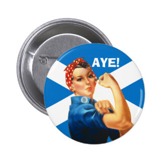 Indy Rosie the Riveter Says Aye Button