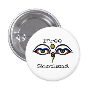 Indy Scotland Buddha Eyes Art Button Badge
