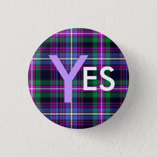 Indy Tartan Yes Scotland Independence Pinback 3 Cm Round Badge