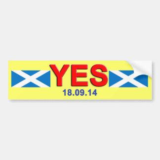 Indy Vote Yes Scotland Bumper Sticker