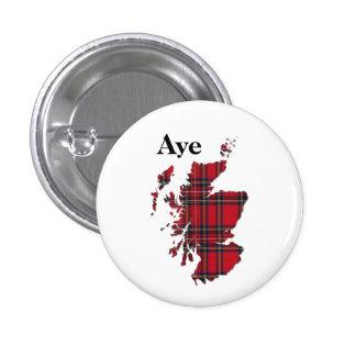 indyref Tartan Aye Scotland Pinback Pins