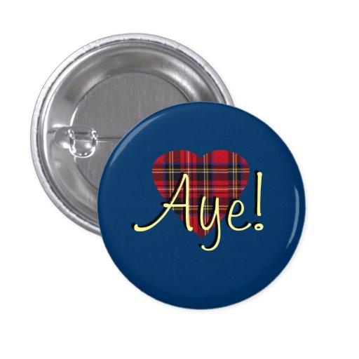 #indyref Tartan Heart Yes Scotland Pinback Buttons